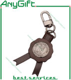 Ledernes Keyring mit Metal Part mit Customized Logo