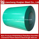Bobina de acero cubierta color del color de Ral usada en construcciones