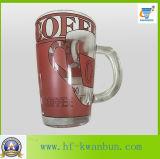 Taza de cristal de la taza con la tapa con la taza de café de la etiqueta Kb-Hn0735
