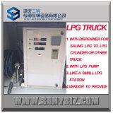 caminhão de tanque de 5500L Rhd LHD mini LPG com distribuidor do LPG