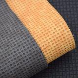 二重カラー円形の浮彫りにされたPUの革、織り目加工ののど袋の革