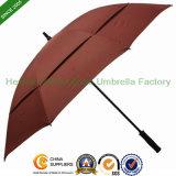 Qualità Fiberglass Windproof Double Canopy Golf Umbrella per Advertizing (GOL-0027FD)