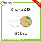 원형 또는 사각 모양 소형 PVC NFC RFID 스티커 꼬리표