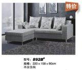 Petit sofa de tissu de conception simple de dimension (896)
