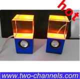 Mini caja cristalina del altavoz del LED, altavoz Subwoofer de 3W LED Lec Crystale