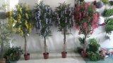 Alta qualità del circuito di collegamento naturale delle piante artificiali con i fiori Westeria Gu-SL-130-840-45yellow