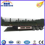 3 ejes 50 toneladas de ganado Remolque de transporte de animales con tenda Crossgirders