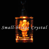 Keychain promocional cristalino