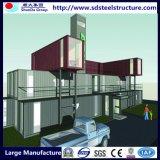 Casa del envase del panel de emparedado del marco de acero