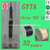 La base de GYTA 96 trenzó el cable de fibra óptica del tubo flojo con el solo modo para el conducto enterrado