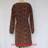 Longue robe tissée de mode de douille par copie pour des dames