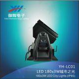 180PCS 9W 3in 1 luz ao ar livre da cor da cidade do projetor do céu do poder superior