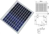 модуль 9V 12V 18V 8W 10W 12W поликристаллический солнечный Panelpv с ISO TUV утвержденный