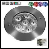 Indicatore luminoso subacqueo del raggruppamento del supporto della superficie dell'acciaio inossidabile 6W 18W LED