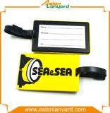 Étiquette personnalisée de bagage de PVC de promotion