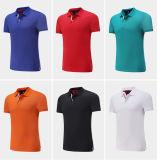 T-shirt du polo des hommes colorés de coton ajustés par mode faite sur commande à extrémité élevé