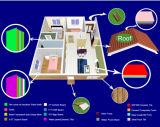 Casa de campo pré-fabricada de dois quartos