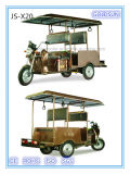 Motor elétrico psto solar, motocicleta, velomotor elétrico, táxi do motor, estilo aberto