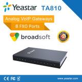 El SORBO análogo 4/816 FXS vira la línea entrada ATA del PSTN hacia el lado de babor de VoIP