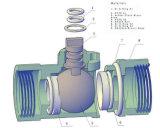 Valvola a sfera d'ottone motorizzata modi bidirezionali di /Three