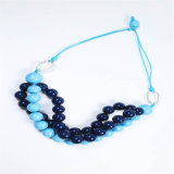 Jóia acrílica da colar da forma dos grânulos do tom azul novo do projeto