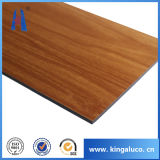 Fireproof Kitchen Decorated Wood Aluminum Composite Wall Cladding