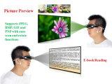 De vouwbare Lichtere LCD van de Kleur Eyewear Elektronische Lens Glazen Digtal van het Scherm van 98 Duim de Virtuele Slimme van de Vertoning 3D Video