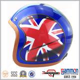 Capacete azul da motocicleta de Harley do brilho da alta qualidade (OP216)