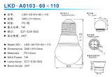 7w A60 Bombilla de LED con Cubierta de PC (plástico) (OEM y ODM Acepatados)
