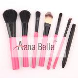 Nuevo cepillo del maquillaje del estilo 7PCS para el cosmético con el rectángulo de acero