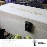 Contenitore di legno su ordine di vino di Hongdao con il commercio all'ingrosso stampato della casella di legno di marchio