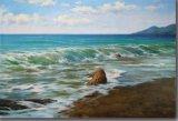 Reproduction de peinture à l'huile d'onde de mer