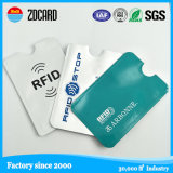 RFID преграждая владельца карточки удостоверения личности кожи держателя кредитной карточки