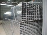 Tubo de acero cuadrado de ERW y rectangular galvanizado sumergido caliente