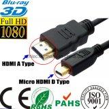 Micro HDMI al cavo di HDMI per le videocamere portatili HDTV (SY094) di Cellpbone