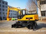 Excavador 0.3m3 de la rueda de la máquina 8 de la construcción con velocidad
