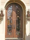 Portas da rua superiores da entrada do dobro do ferro feito do arco quente das vendas