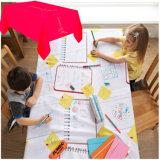 Kind-abgehobener Betrag auf PET lamellierter Tischdecke WegwerfpapierTablecover