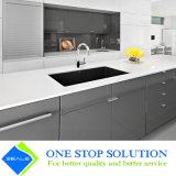 Meubles à haute brillance gris et blancs de Module de cuisine de fini de laque (ZY 1164)
