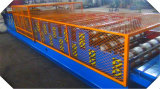 Rodillo de alta velocidad del perfil de la costilla de la capa doble del material para techos hola que forma la máquina