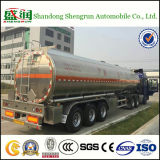48000L 빛나는 알루미늄 3 차축 연료 탱크 트럭 트레일러
