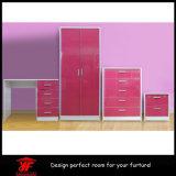 Moderno ajustado da mobília do quarto do gabinete dos projetos da tabela de limpeza do Wardrobe