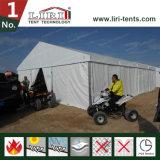 Tente blanche de PVC de couleur utilisée pour l'événement de sport en plein air
