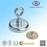 Aimant magnétique de crochet de pouvoir intense de qualité de D42mm avec l'oeillet