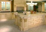 Module de cuisine découpé par type de luxe en bois solide de cuisine de bois de construction