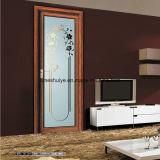 Portello di alluminio interno del salone di Docoration con il singolo comitato di vetro del bordo di Grinded
