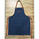 Fábrica Custom Blue Denim Gardening Aventais com bolsos de ferramentas
