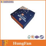Rectángulo de regalo de papel de lujo con la pieza inserta de la solapa en dimensión de una variable del libro