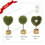 Planta plástica da flor artificial da decoração do banquete de casamento da HOME do Glitter de H10-18cm
