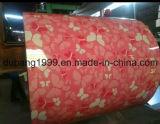 Vorgestrichener galvanisierter Stahlring mit weiße Blumen-roter Unterseite von der direkten Fertigung